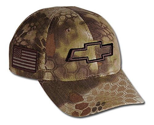 Hat Baseball Chevrolet (Chevrolet 3D Bowtie Tactical Camo Cap with USA Embroidered Flag Hat (Brown))