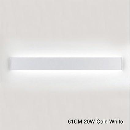 k bright led wandleuchte spiegellampe weiß wandlampe,20w,61cm up und down led wandbeleuchtung,ip 44,abstrahlwinkel 120°,kaltes weiß  spiegellampen unheimlich stilvoll #7