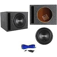 RE Audio SXX10D4 V2 SXXV2 10 1200w RMS Car Subwoofer+Vented Sub Box Enclosure