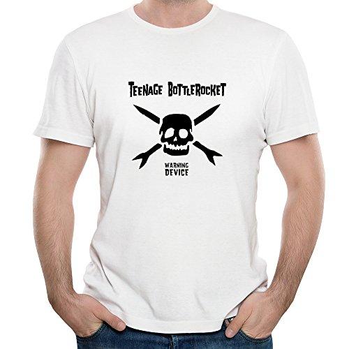 FONY Men's Teenage Bottlerocket Rock Band Logo Total Short Sleeve Cool Dry T-Shirts