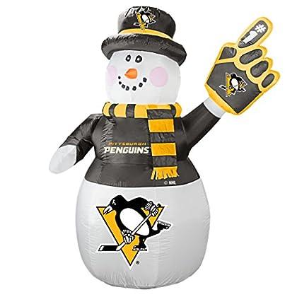 Image of Boelter Brands NHL Pittsburgh Penguins Inflatable Snowman, 7ft Décor