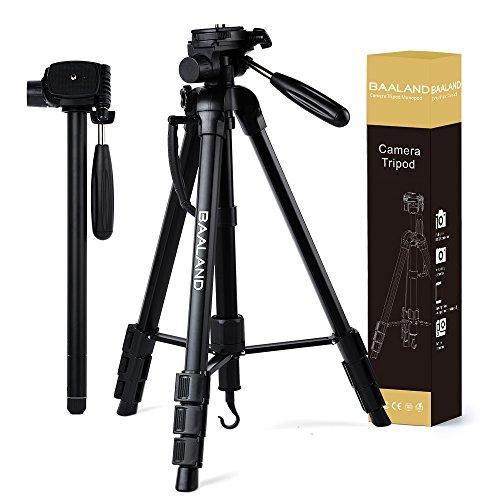 Camera Tripod - Monopod Stand for Travel Video Canon Nikon DSLR Camera with Bag