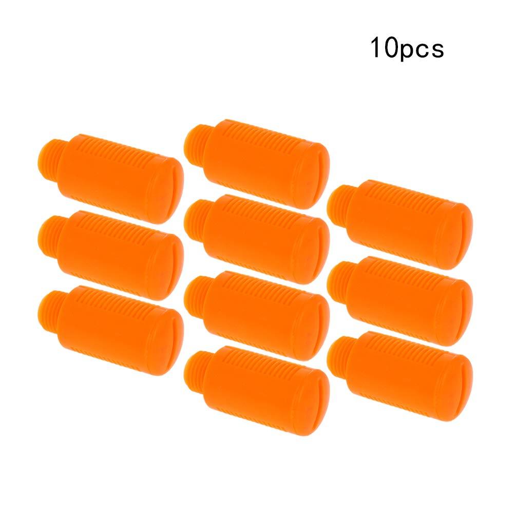 Othmro Orange Pneumatic Muffler 2PCS 10mm Male Thread Plastic Pneumatic Air Exhaust Silencer Muffler