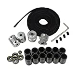 BALITENSEN 3D Printer Movement Kit for Reprap Prusa I3-GT2 Timing Belt + 20T Timing Pulley + 608zz Bearing + LM8UU Linear Bearing + 624zz Bearing + Motor Shaft Flexible Coupler