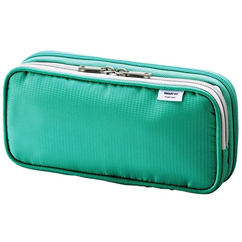 "LIHIT LAB. Double Pen Case L size, Green, 4.1 x 8.7"" (A7661-7)"