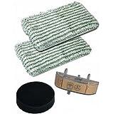 Kit Lingette (x2)+Cartouche+Filtre Net.vap. Clean & Steam Rowenta (ZR005801)