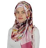 Aker 'Angel' Chiffon Turkish Muslim Women's Shawl Abstract Headscarf Islamic Hijab #7219-991