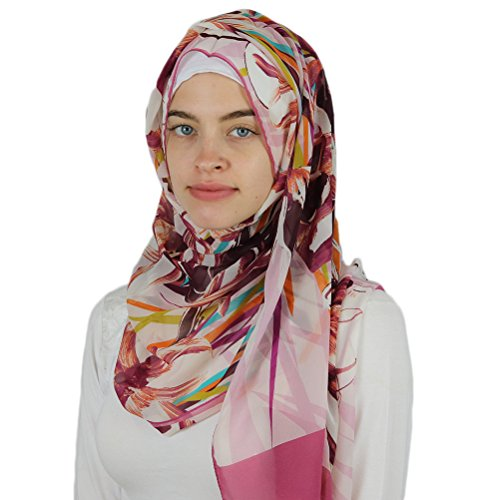 Aker 'Angel' Chiffon Turkish Muslim Women's Shawl Abstract Headscarf Islamic Hijab #7219-991 by Aker