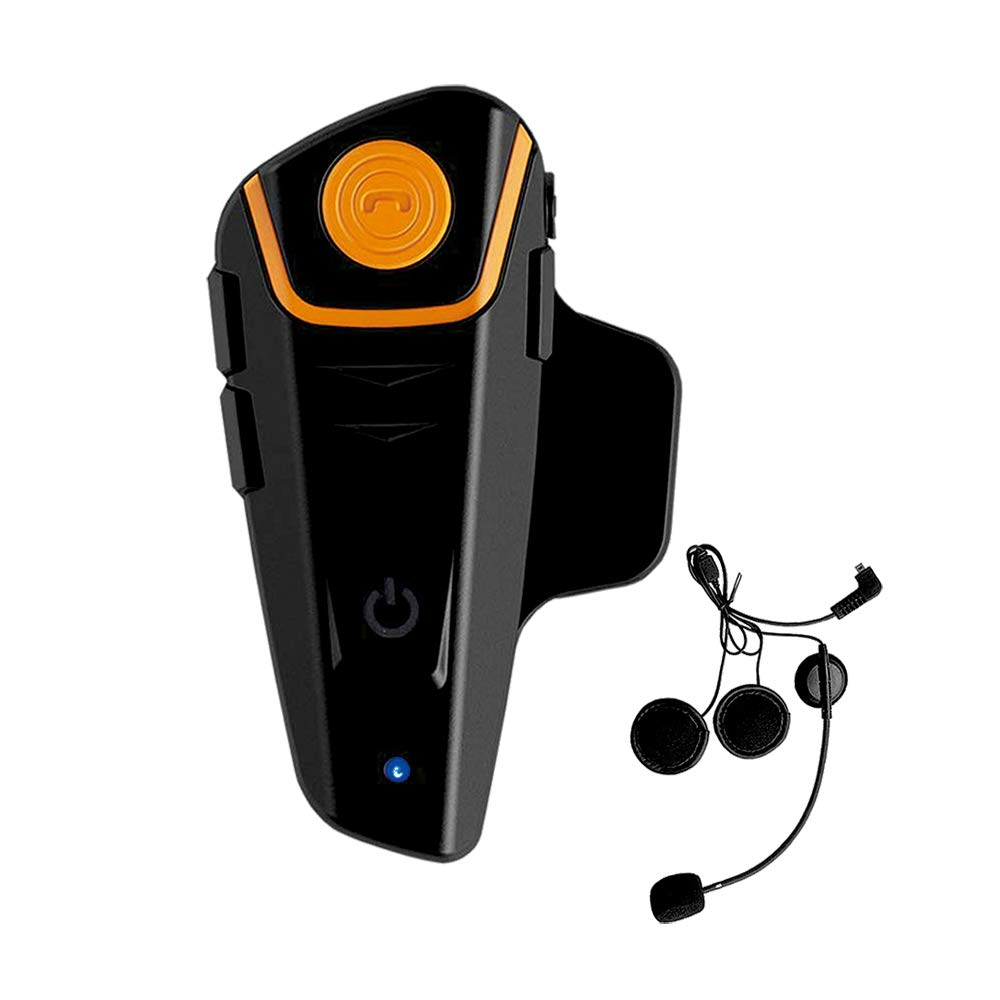 Huangou BT-S2 Motorcycle Motorbike Helmet Bluetooth Intercom Headset, 1000m Interphone Great for Riding/Skiing, Up to 2 or 3 Riders and 2.5mm Audio for Walkie Talkie / MP3 Player/GPS (1 Pack)