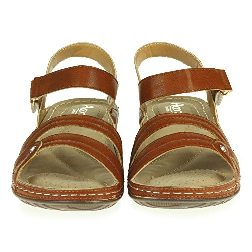 Toe Poids Chameau Été Talon Dames Sandales Open Chaussures Bas Confort Femmes compensé Taille léger Décontractée z6tEaw6x