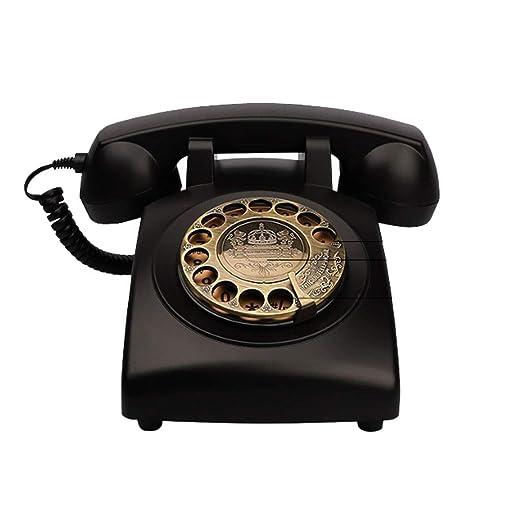 Diseño retro con cable Telefono fijo - Clásico Estilo antiguo Dial ...