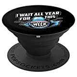 I Wait All Year For This Week Art | Cool Love Sharks Gift - PopSockets Grip and Stand for Phones and Tablets