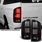 02-06 Ram 1500   03-06 Dodge Ram 2500   3500 Full LED Black Smoked Tail Lights Replacement Pair Set