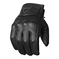 Made of top quality Aniline Goat leather. This leather is durable yet it is flexible and soft to touch. Contains comfortable liner on the back of palm and reinforced palm. Gel pad on wrist for vibration protection. Adjustable hook and loop st...