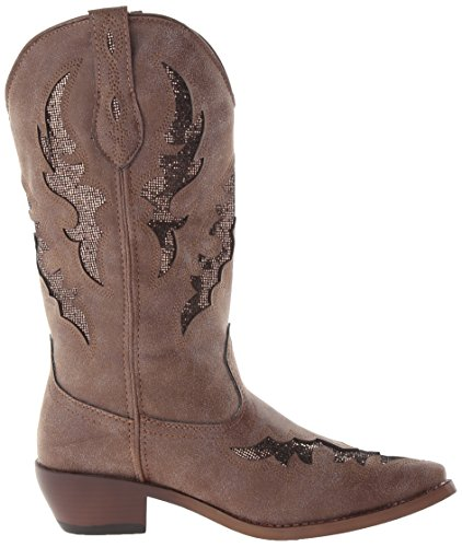 Western Glitter Women's Boot Brown Snippy Roper xgS6nFpqUn