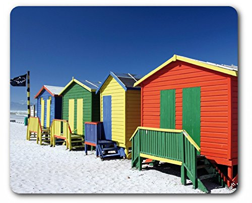 Beaches Mouse Pad - Colourful Beach Huts In South Africa (9 x 7 - Africa Huts In