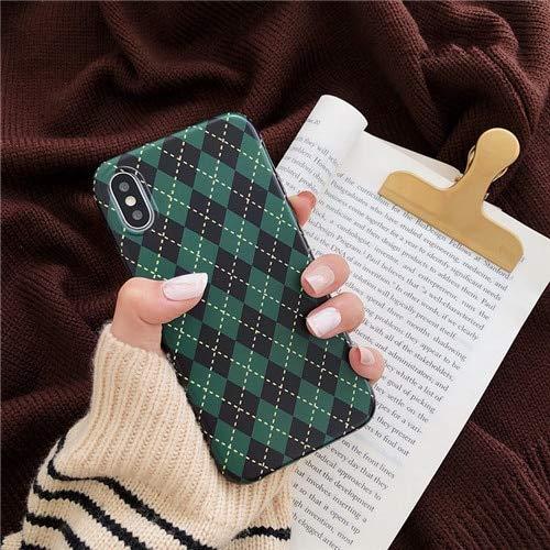 5692af5c7b6f Others - Retro Diamond Grid Phone Case for iPhone 7 7Plus case Matte Soft  TPU Case
