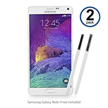 Galaxy Note 4 Stylus Pen, BoxWave® [Replacement S Pen (2-Pack)] Silicone Tip, Precise S Pen for Samsung Galaxy Note 4 - Winter White