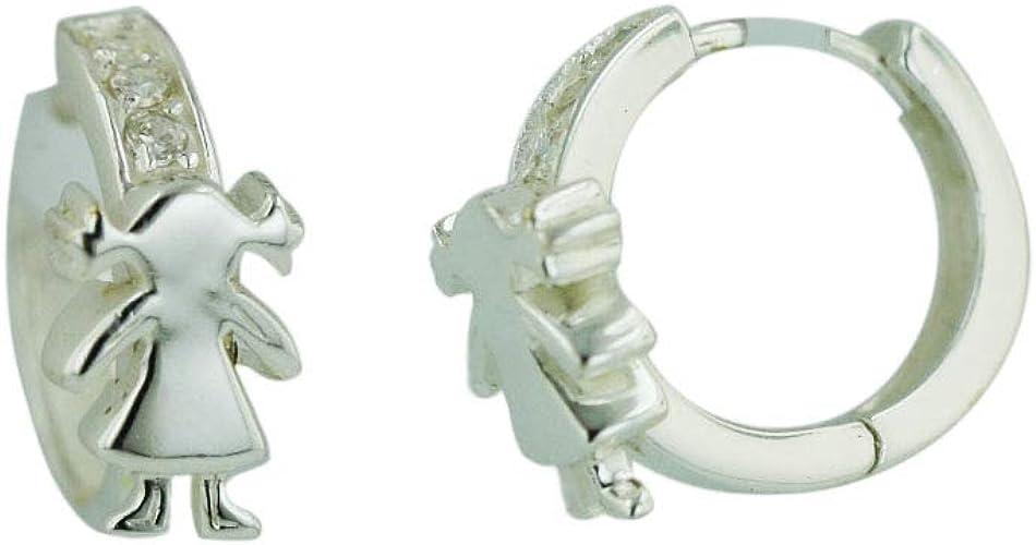 925 Sterling Solid Silver Flat Half Hoop Stud Earrings Small Cute Ear Stud