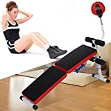 Workout Bench Adjustable Weight Bench Lifting Gym Home Fitness Bench with Speed Ball Dumbbell