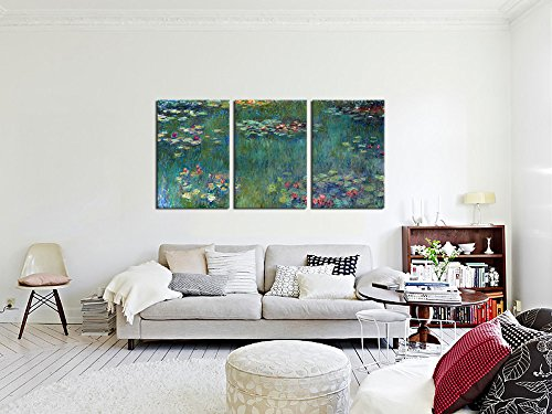 framed prints for living room water lilies by claude monet painting canvas prints 21124