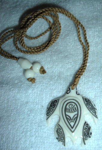 hawaiian honu tribal tattooed sea turtle carved bone