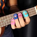4 In 1 Guitar Fingertip Protectors Silicone Finger Guards For Ukulele by Youngstore