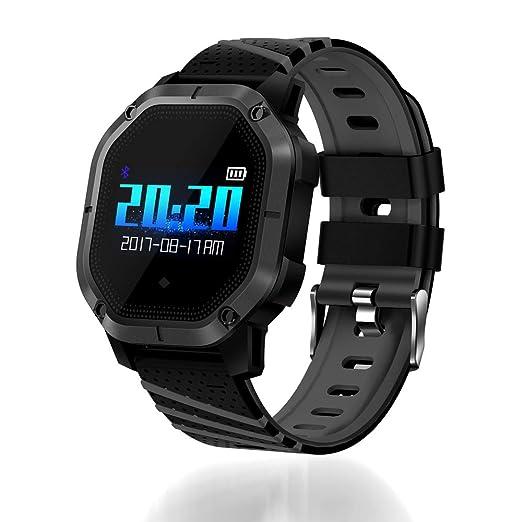 Ganeep Monitor de Frecuencia Cardíaca Reloj Inteligente Deportes Presión Arterial Podómetro Correr 1.0 Pulgadas TFT Touch