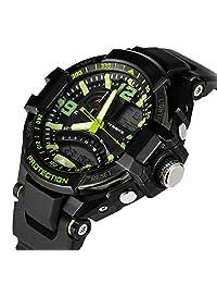Changeshopping(TM) Men Sports Wristwatches Quartz Analog Digital LED Waterproof Swim Watch (green)