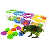 ASOCEA Parrot Bird Intelligence Training Toys with Color Separation Coin Box for Parakeet Macaw Cockatoo African Greys Eclectus