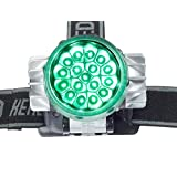 17 Bulb Green LED Headlamp for Photoperiod Sensitive Plants in Indoor Hydroponics & Grow Room Gardening by Happy Hydro