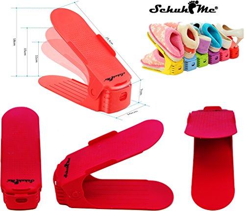 Schuhstapler 16 Schuhhalter x Verstellbarer Profi SchuhMe® Pgwqq