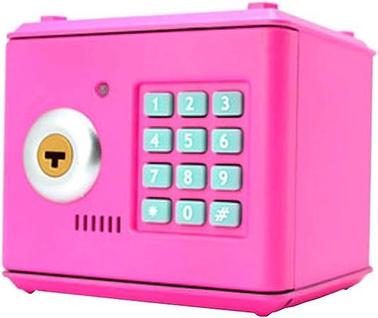 Huermei - Contraseña electrónica de dibujos animados - Cerradura de contraseña de llave grande / caja de monedas plateadas / juguete educativo para niños regalo 13,2 x 12,5 x 12,5 cm, Rosa, 13.2*12.5*12.5cm: Amazon.es: Hogar