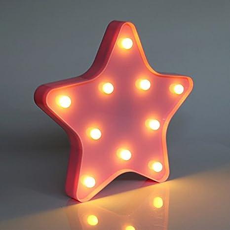 Led Star Shape Night Light Xiyunte Star Lights Wall Lamps Home
