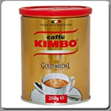 Kimbo Coffee Espresso Grounded Gold Medal 8.8 Oz Tin