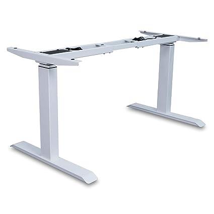 Magnificent Aiterminal Electric Standing Desk Frame Single Motor Adjustable Motorized Stand Up Desk White Frame Only Download Free Architecture Designs Embacsunscenecom