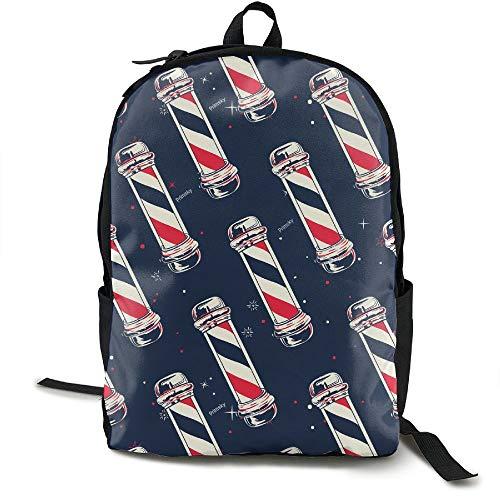 Klnsha7 Vintage Barber Pole Flag.jpg Travel High School Backpacks Lightweight Bag College Girls Womens