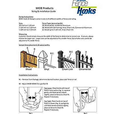 MIDE Products 1SET-B Fence Hooks, Black : Garden & Outdoor