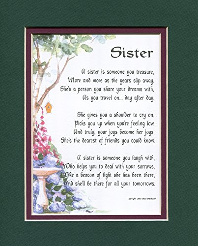 Birthday Gift Present Poem For A Sister, 61A,