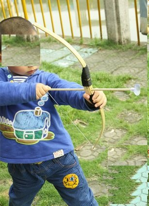 train play Kid child Bamboo & Wood Bow and Arrow & Quiver Set 3 safe ARROWS by newnews (Image #2)