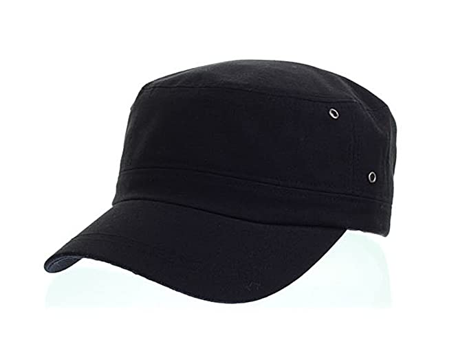 myglory77mall Patrol Combat Army Hat Cadet Military Baseball Sport Cap  SIMPLE Black f71a6386472