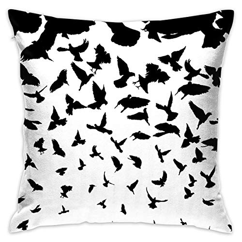 dailyonline Flying Bird Gift Throw Pillow Home Decor Pillowcase Print Bed Pillow Shams & Inner for Couch Household Pillow Cover