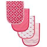 Luvable Friends 4 Piece Curved Burp Cloth, Bows - Best Reviews Guide