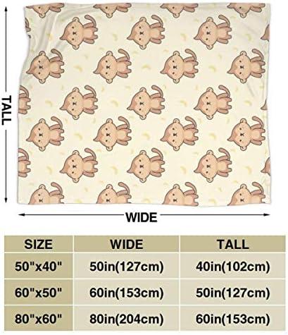 Funny Z Couverture de Jet Confortable de Singe Mignon Couverture de Flanelle Couverture de Micro Polaire Ultra-Douce pour Le canapé de lit 80x60 Pouces