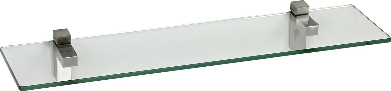 IB-Style - Wandregal - - - Glasregal | 54 Variationen | 900 x 300 x 10 mm satiniert + Halterungen Quadro Verchromt e06142