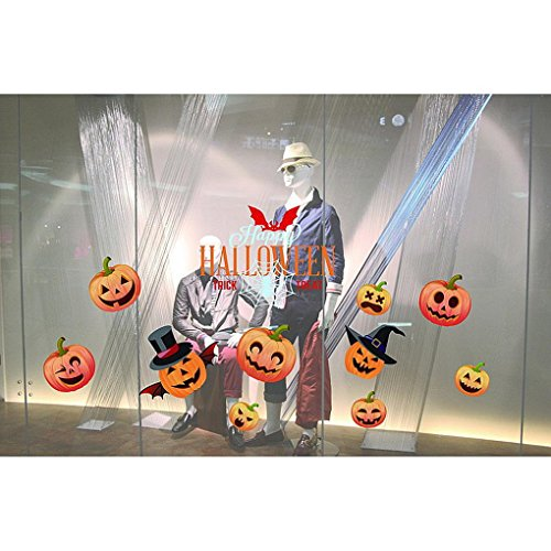 Glass Sticker by Vibola Halloween Decorations shopping mall Bar KTV static Window Glass paste (G) (G-a-y London Halloween)