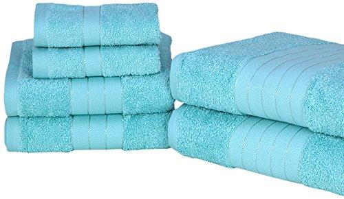 Dreamscene Luxury Super Soft 6 Piece Hand Bath Towel Bale 100% Egyptian Cotton Aqua, 485 gsm Pin Mill Textiles Ltd 5027434099146