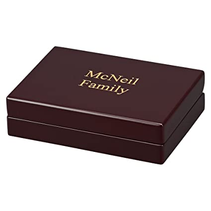 Amazon Rosewood Finished Box With 2 Decks Of Playing Cards