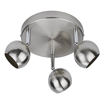 Biard Ohio Lámpara de Techo con 3 Focos Orientable 360 ...