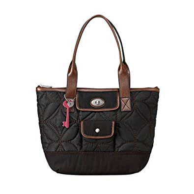a2dea0109 Amazon.com: Fossil KeyPer Shopper Tote Purse Shoulder Bag Black: Shoes